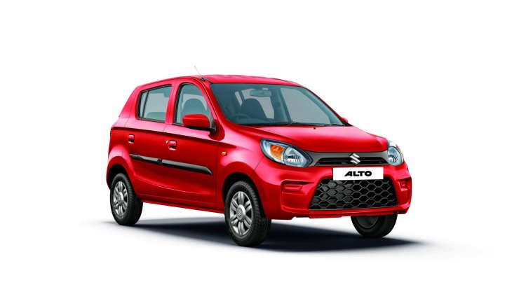 2019 Maruti Alto Facelift Blazing Red Front Three