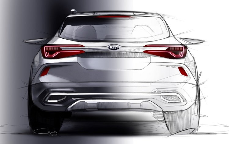 Kia Sp2i Sketch Rear