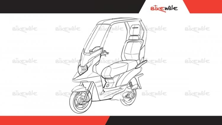 Tvs Scooter Wil Solar Roof Sketch