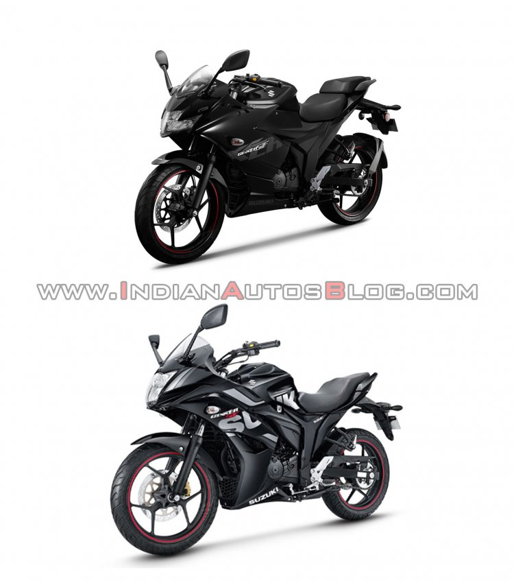 Suzuki Gixxer Sf New Vs Old Left Front Quarter