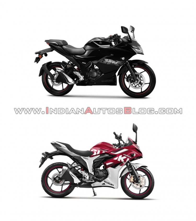 Suzuki Gixxer Sf New Vs Old Right Side