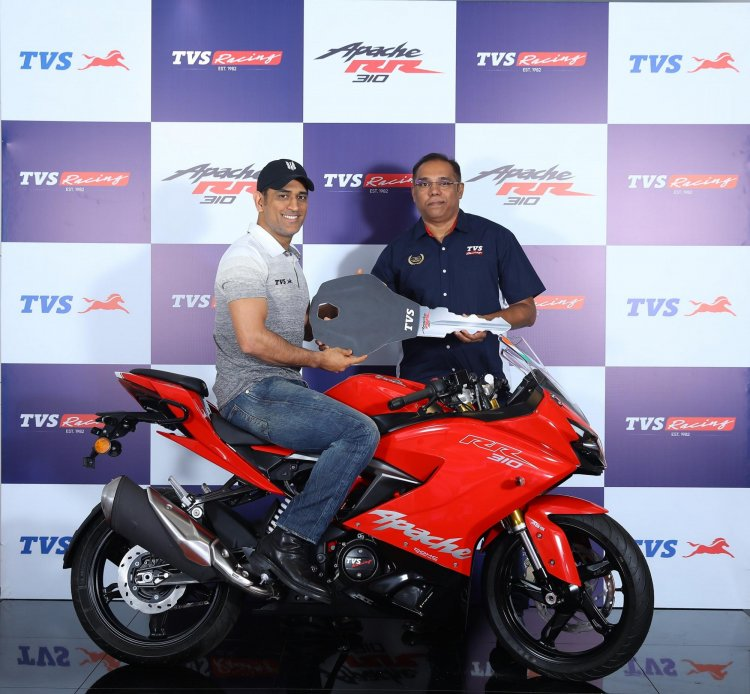 Tvs Apache Rr 310 With Ms Dhoni