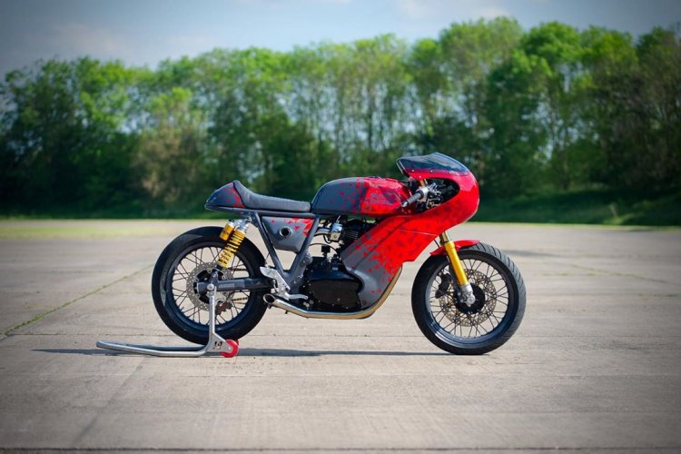 Modified Royal Enfield Continental Gt650 Right Sid