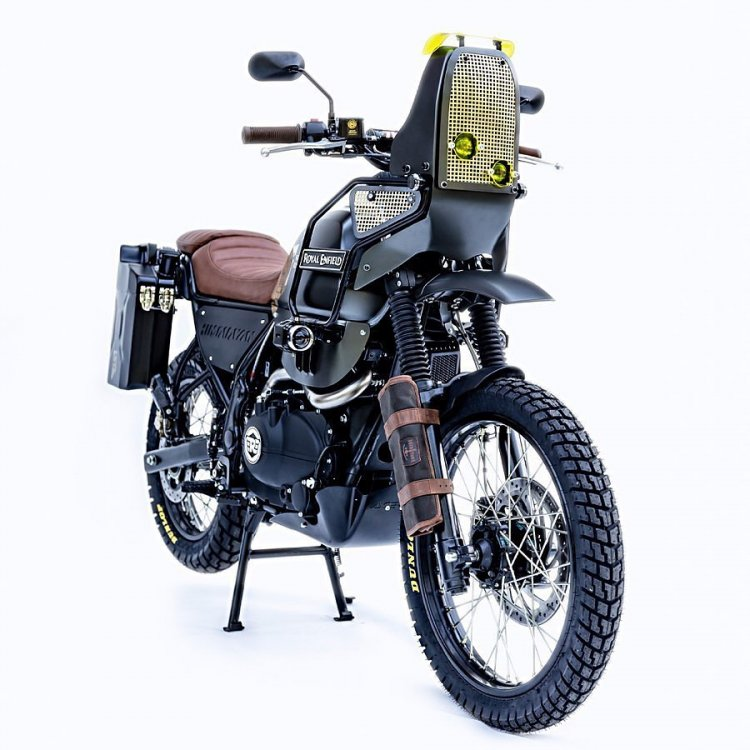 Modified Royal Enfield Himalayan Right Front Quart