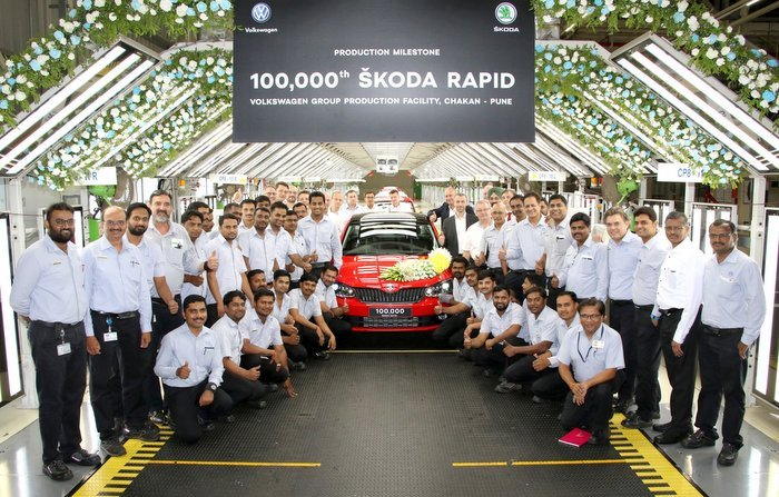 Skoda Rapid One Lakh Unit