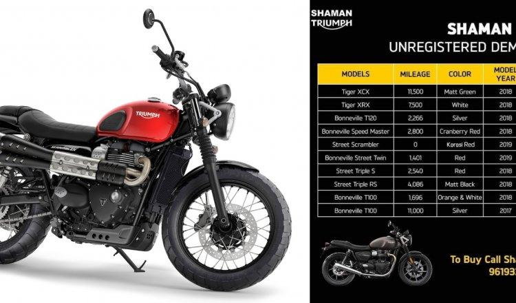 Triumph Mumbai Discounts Feature Image