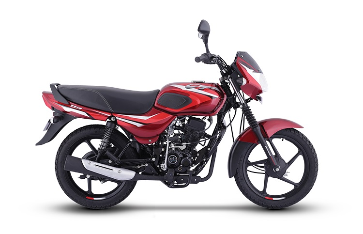 New Bajaj Ct110 Gloss Flame Red With Bright Red De