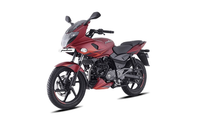 Bajaj Pulsar 220f Volcanic Red Front Three Quarter