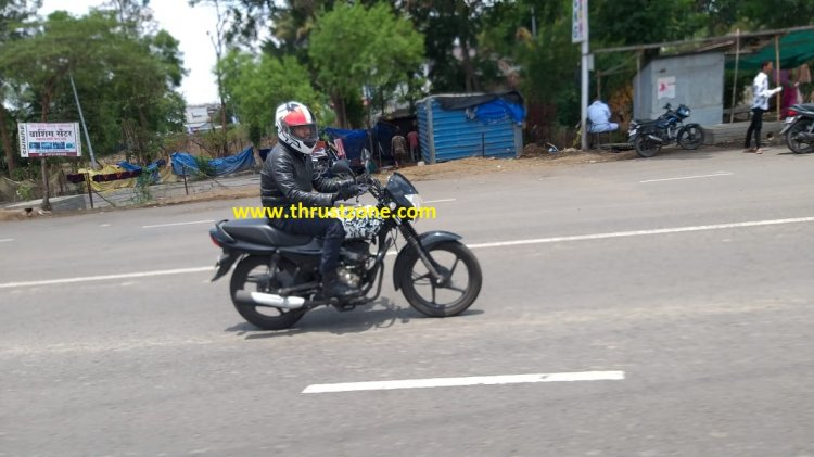 Bajaj Platina Bs Vi Spied Close Up