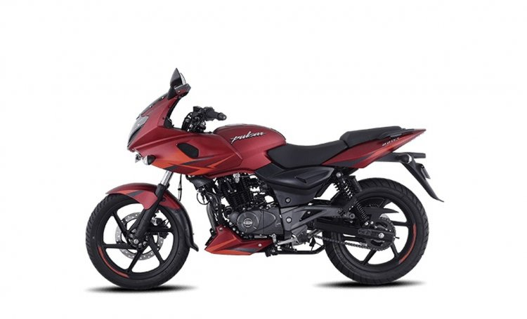 Bajaj Pulsar 220f Volcanic Red Left Side