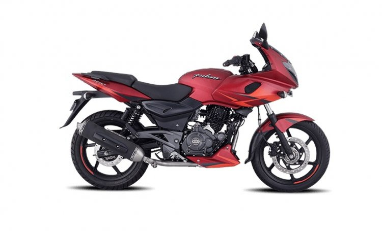 Bajaj Pulsar 220f Volcanic Red Right Side