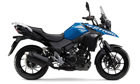 2020 Suzuki V Strom 250 Blue Side Profile