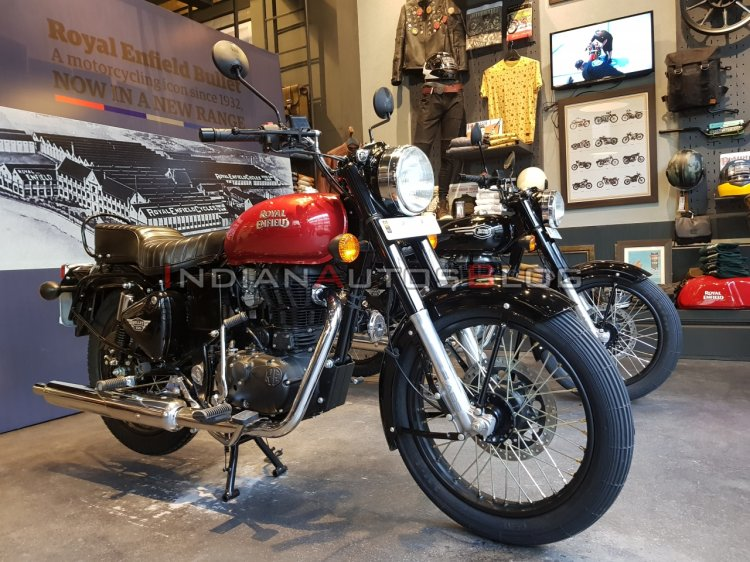 New Royal Enfield Bullet 350 Es Right Front Quarte