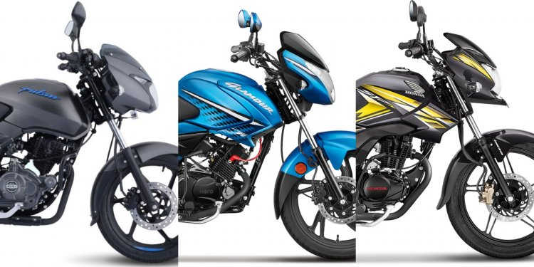 Bajaj Pulsar 125 Vs Hero Glamour Vs Honda Cb Shine