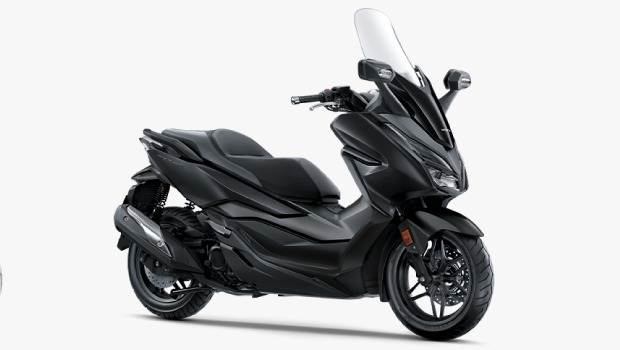 2019 Honda Forza 300 Black Front Three Quarters