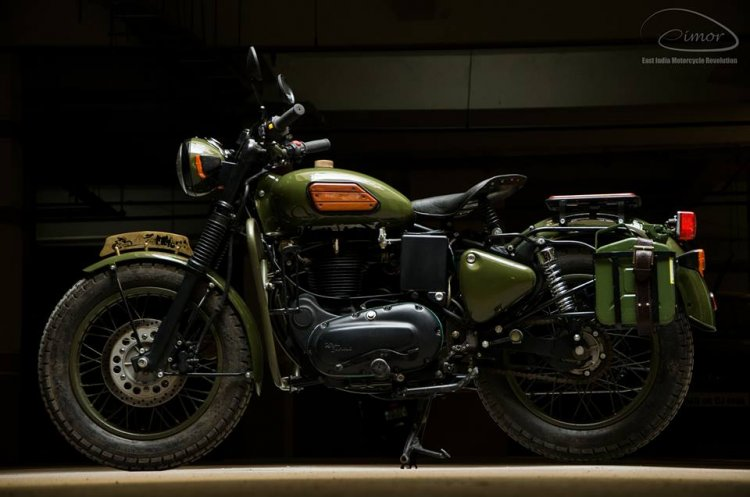 Modified Royal Enfield Electra Eimor Customs Left