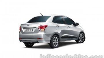 Hyundai Xcent Rear Three Quarters