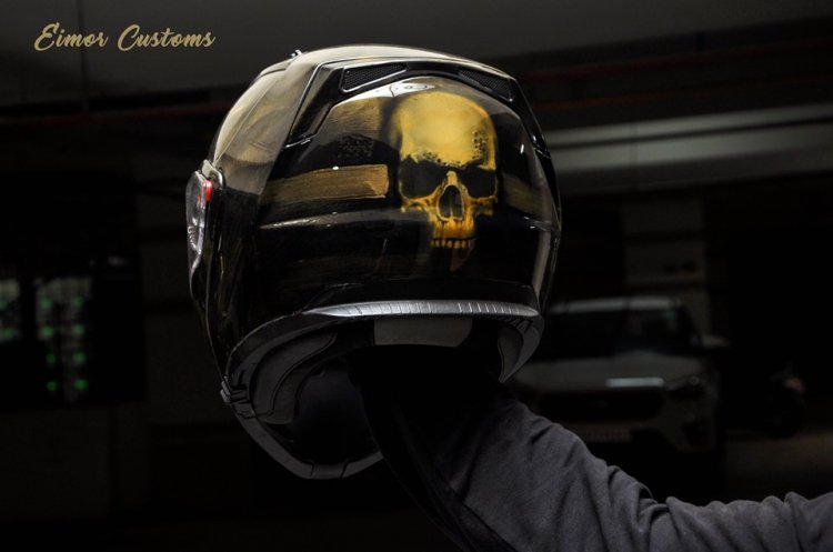 Hyosung Aquila 650 By Eimor Customs Helmet