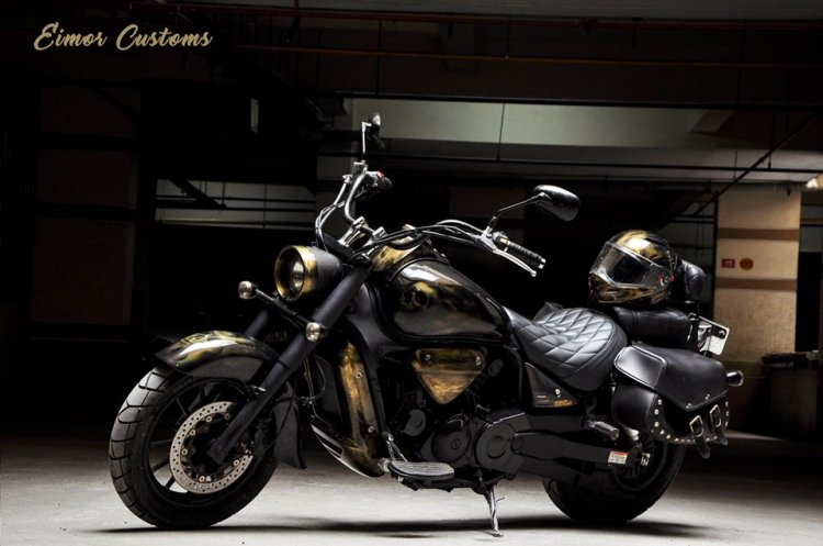 Hyosung Aquila 650 By Eimor Customs Left Side