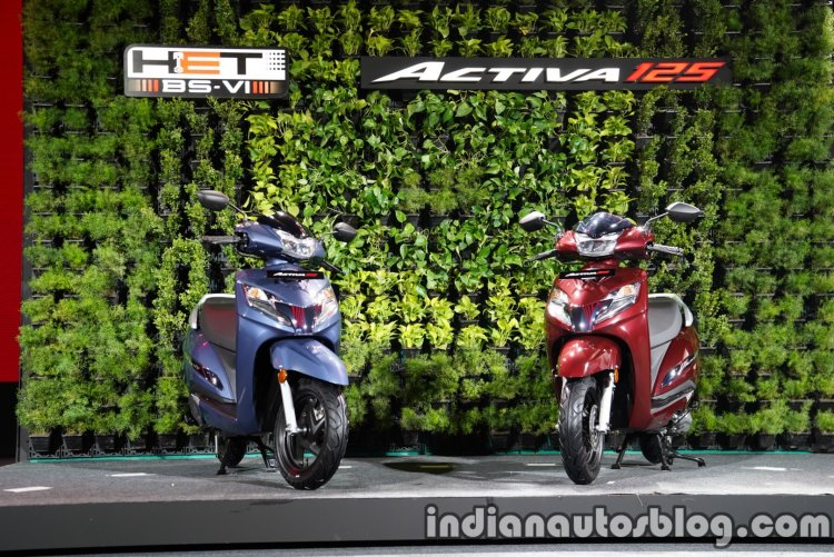 Honda Activa 125 Bs Vi India Launch Front Right An