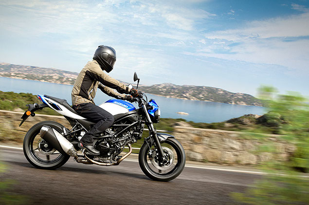 Suzuki Sv650 Blue Action Right Side