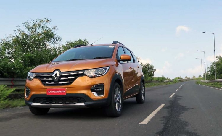 Renault Triber Test Drive Review Images Action Fro