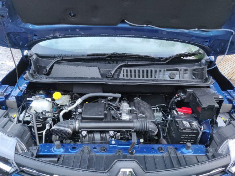 Renault Triber Test Drive Review Images Engine Bay