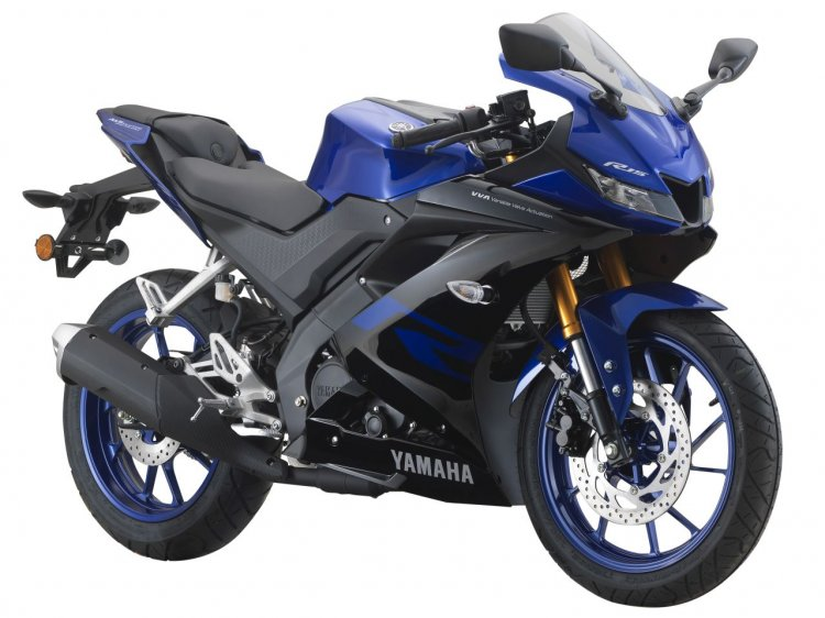 2019 Yamaha R15 Malaysia Blue Right Front Quarter