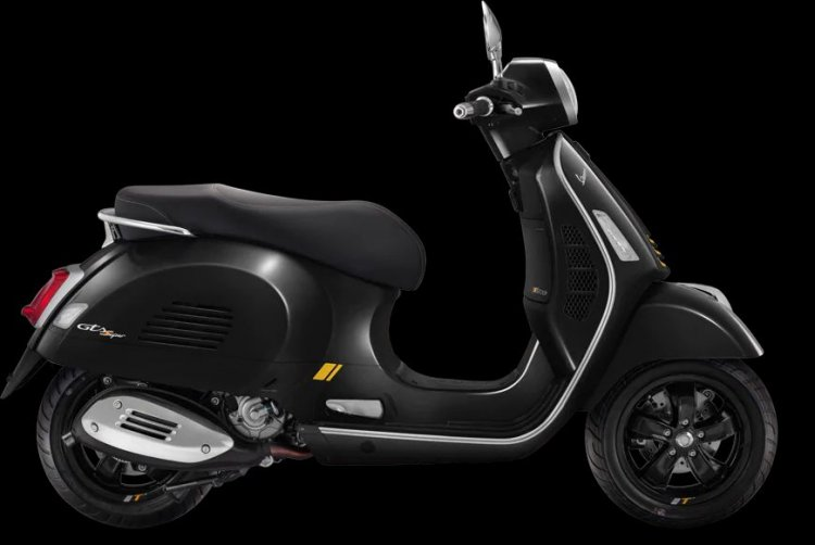 Vespa Gts 300 Supertech Hpe Black Right Side