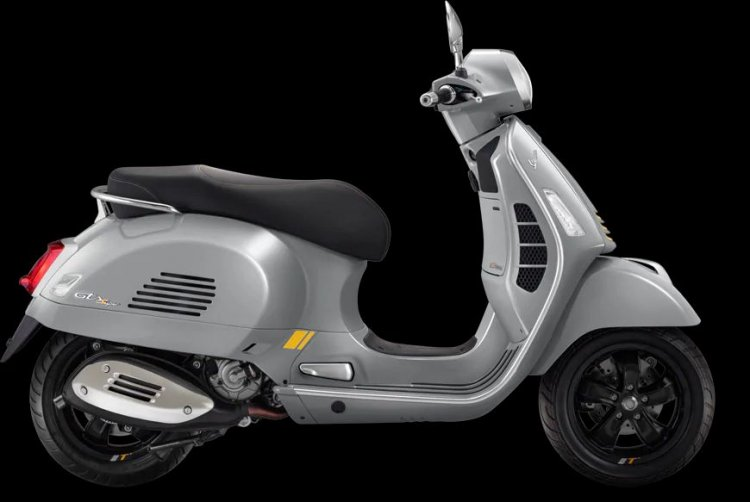 Vespa Gts 300 Supertech Hpe Grey Right Side