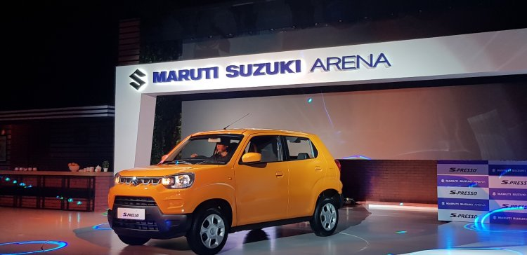Maruti S Presso Front Three Quarters Launch A51f
