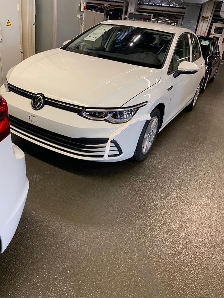 2020 Vw Golf Front Three Quarters Left Side Leaked