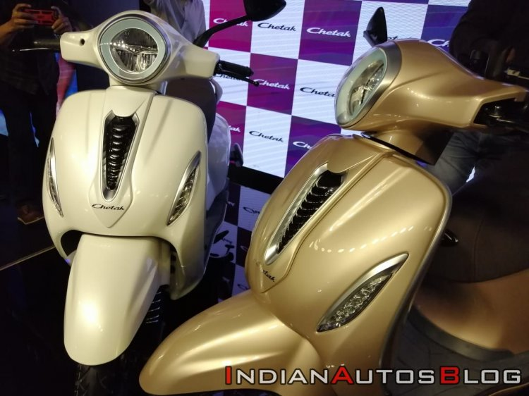 Bajaj Chetak Electric Scooter Unveiled Headlight A