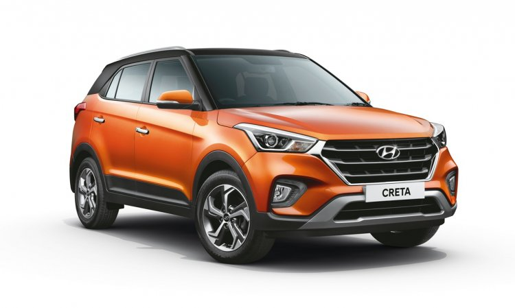2018 Hyundai Creta Facelift Dual Tone Passion Oran