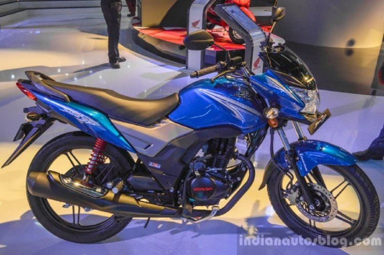 Honda Cb Shine Sp Side At Auto Expo 2016