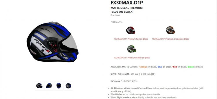 Mavox Fx Series Helmets Right Side