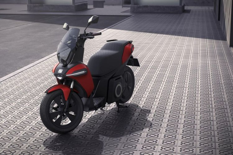 Seat E Scooter Concept Left Front Quarter