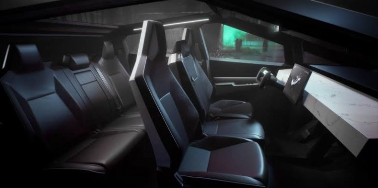 Tesla Cybertruck Interior Revealed
