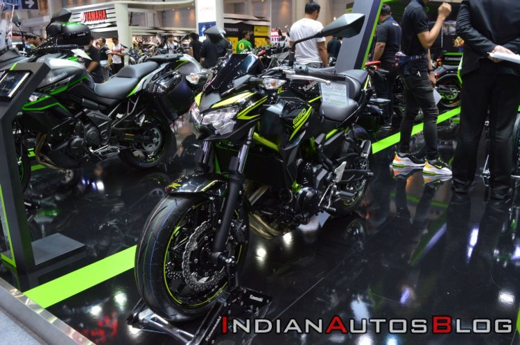 2020 Kawasaki Z650 Thai Auto Expo Left Front Quart