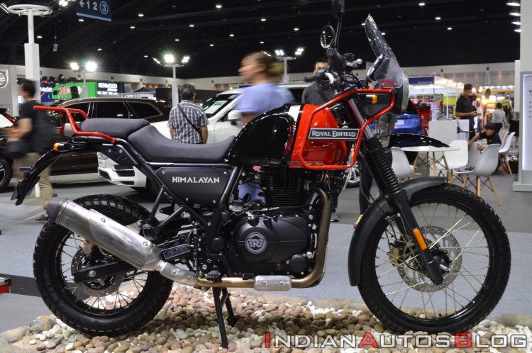 2020 Royal Enfield Himalayan Rock Red Side Profile