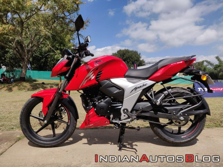 Bs Vi Tvs Apache Rtr 160 4v Profile Shots Left Sid