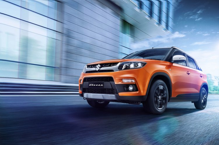 2018 Maruti Vitara Brezza Amt Action Shot Low