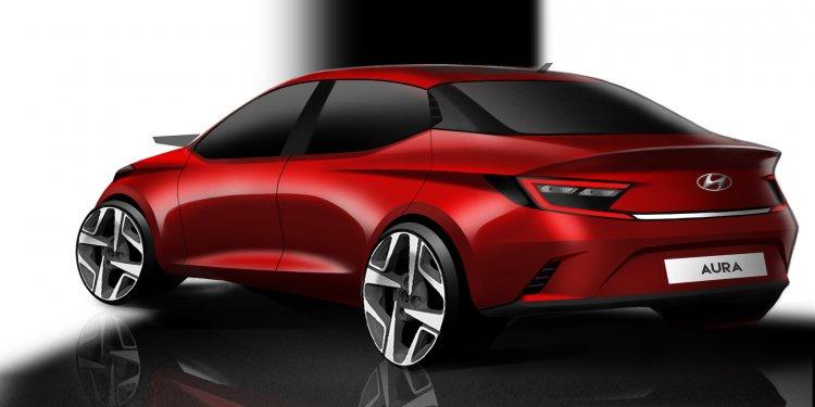 Hyundai Aura Rear Three Quarters Rendering