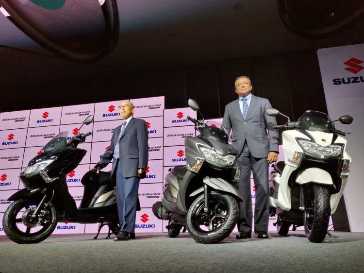 Suzuki Burgman Street Launched Front