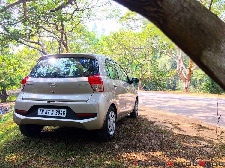 2018 Hyundai Santro Review Images Rear Three Quart