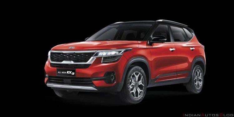 2020 Kia Kx3 Kia Seltos Red Front Three Quarters