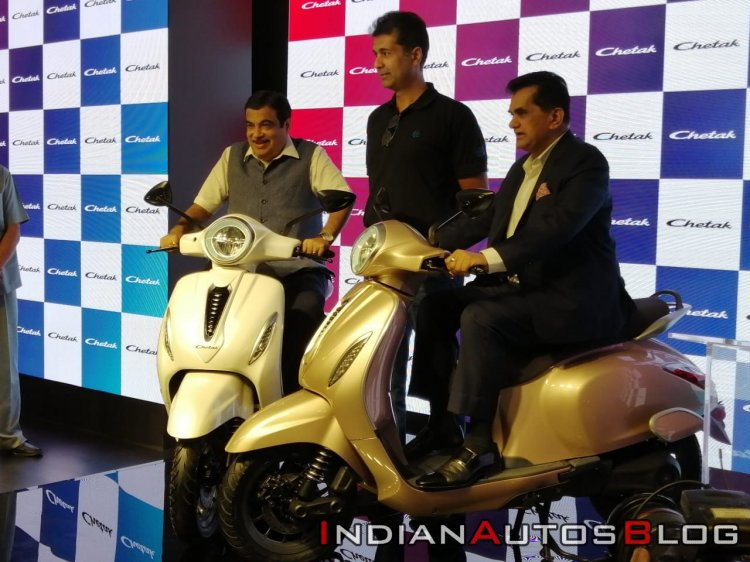 Bajaj Chetak Electric Scooter Unveiled On Stage C9