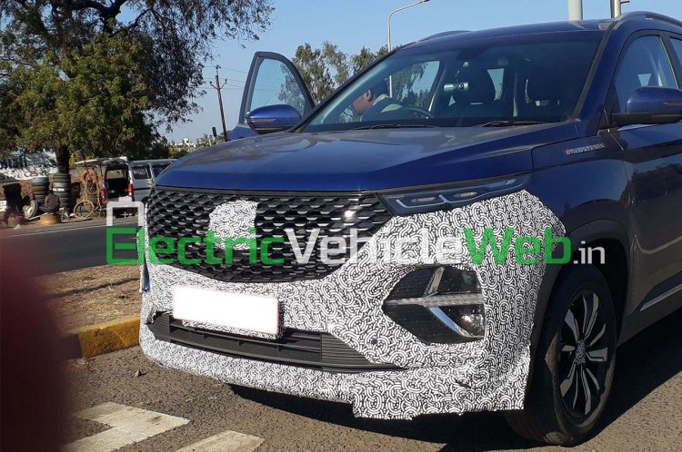 Mg Hector Plus Front View Spyshot