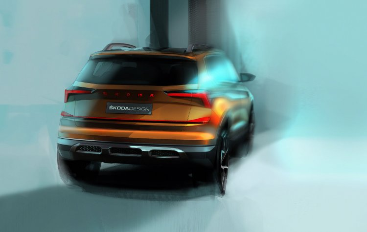 Skoda Vision In Concept Rear Three Quarters Teaser