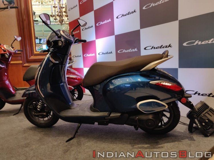 Bajaj Chetak Premium Blue Side Profile